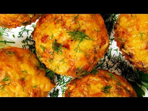 How To Make Chicken And Cheese Muffins - Quick & Easy Chicken Muffins Recipe - Simple Tutorial