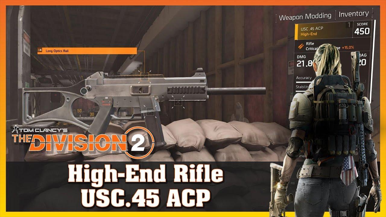 High-End Tier 4   USC 45 ACP   Rifle   Firing Range Test   THE DIVISION 2