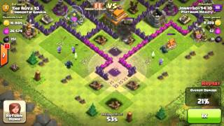 Clash of clans- giwipe in crystal league (I'm a bully)