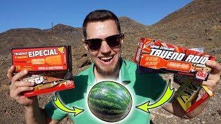 Was passiert mit der Melone 💥? - Spanischer Böller Vergleich 💣!
