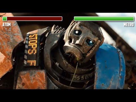Atom Vs. Metro WITH HEALTHBARS | HD | Real Steel