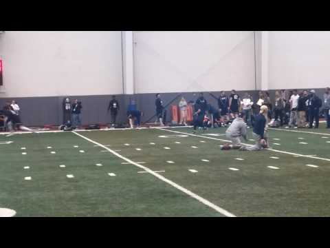 Nate Peterman throws at Pitt pro day