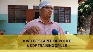 Don't be scared of police & KDF training drills thumbnail