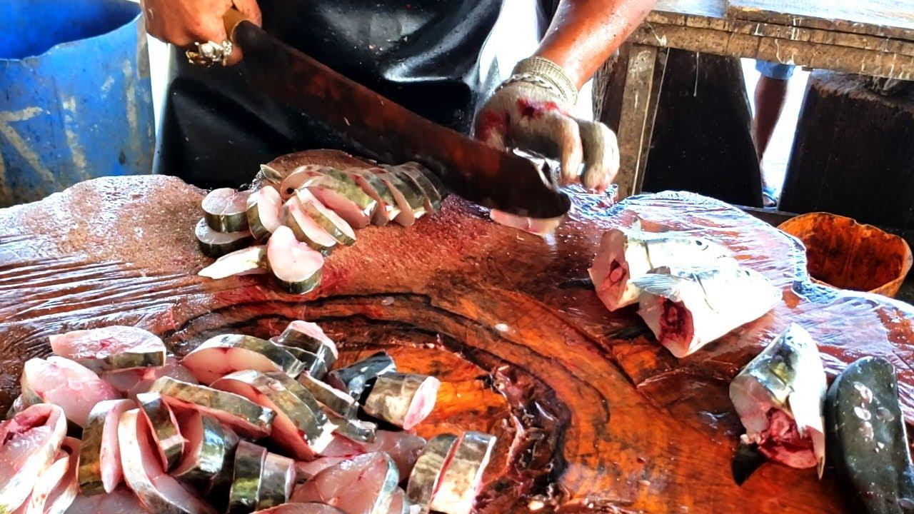 Wow ! Fact Seer Fish Slicing By Ravi