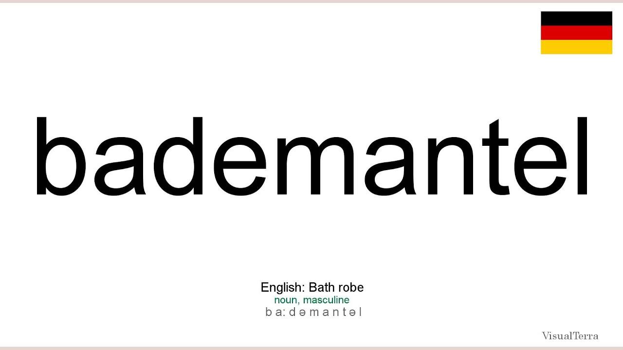 Bademantel english