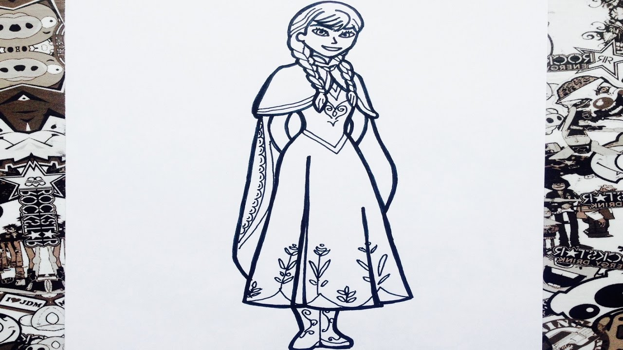 Como dibujar a Anna de frozen  YouTube