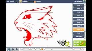 How to draw the High School Musical wildcats logo