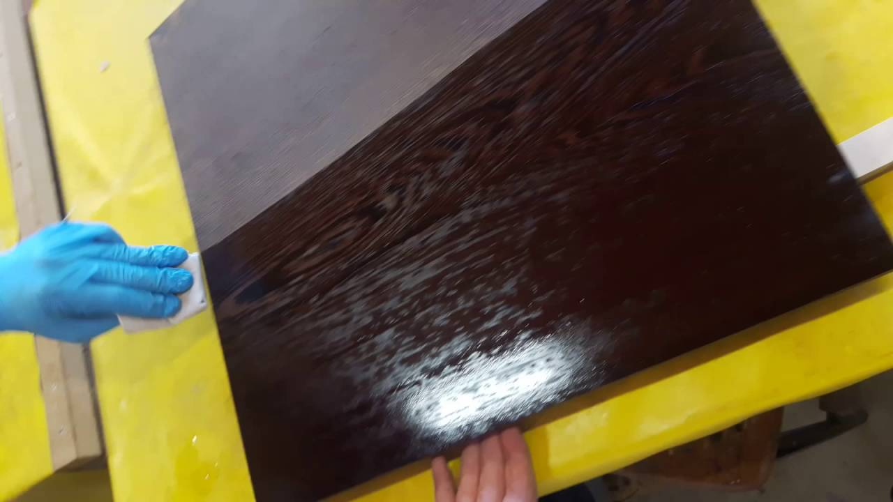 Using Danish Oil To Finish A Wenge Table Top Youtube