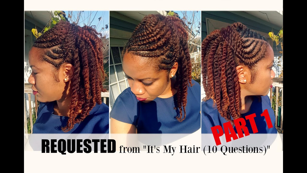 Flat Twist Hairstyles on Natural Hair Part 1