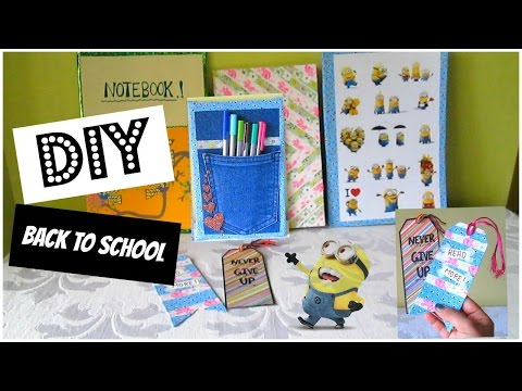 DIY- Back To School Ideas ( Bookmarks, Notebooks, Pocket Holder )