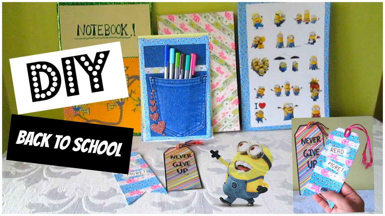 Diy back to school ideas bookmarks notebooks pocket for Diy bookmarks for guys