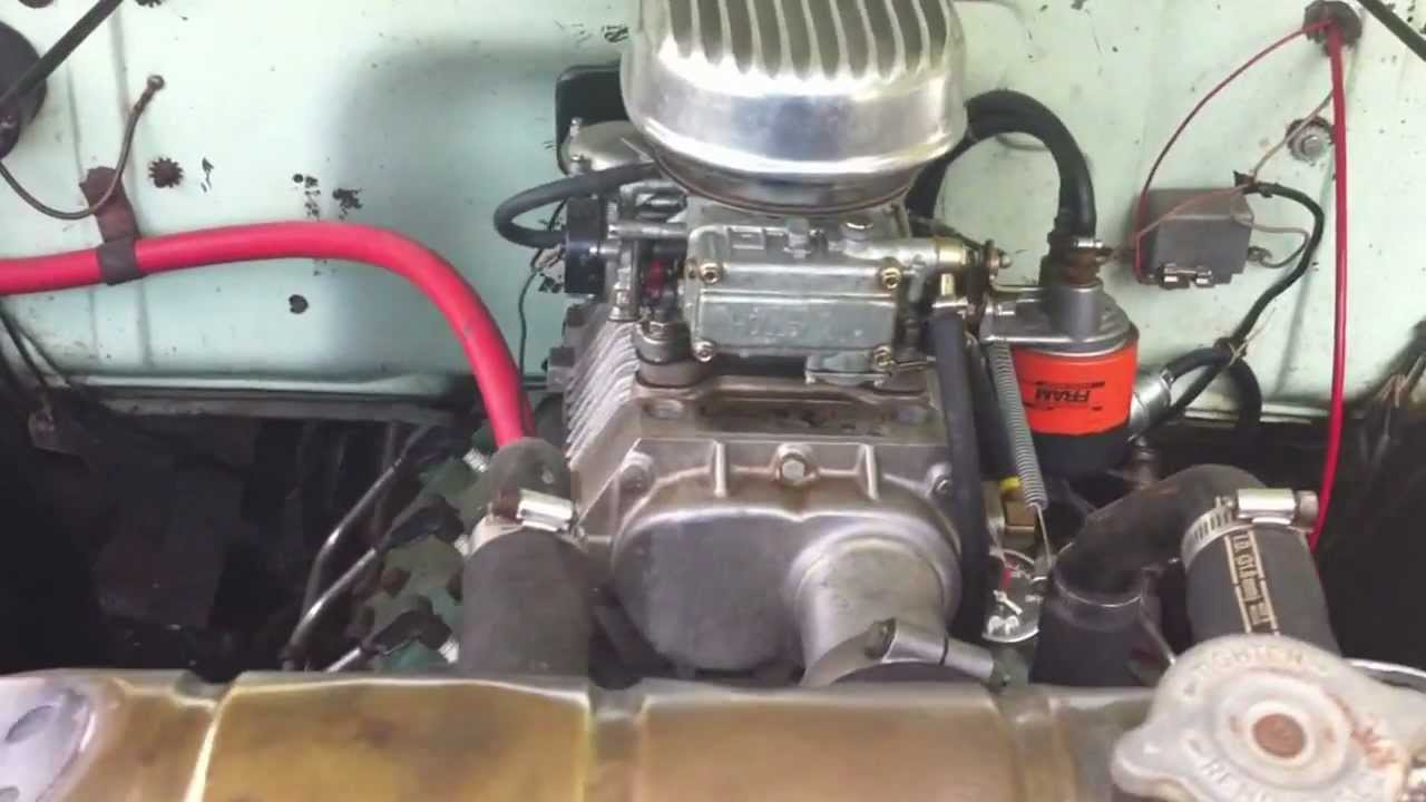 1953 Ford F100 with supercharged flathead
