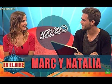 Natalia Sánchez y Marc Clotet juegan a 'Amantes En el aire'