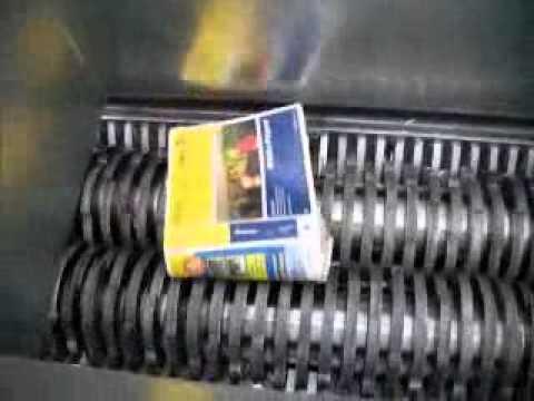 AZ50HD Dual Shaft Industrial Shredder - 20mm paper shredding