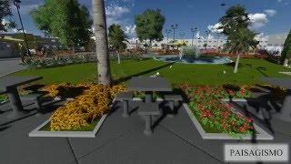Maquete Virtual, Projeto da Praça Padre Mateus, Santo Antônio de Jesus