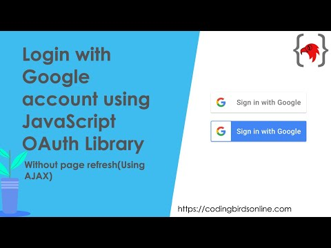 Login With Google Account Using JavaScript Auth Library | 100% Working Source Code