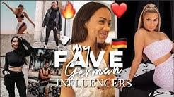 MY FAVORITE GERMAN INFLUENCERS 🇩🇪🔥❤