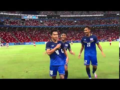 """จังหวะต่อบอล 22 ครั้ง ก่อนที่ """"เมสซี่เจ"""" จะยิงประตู ปิดท้าย ไทย 5 - 0 อินโดนีเซีย"""