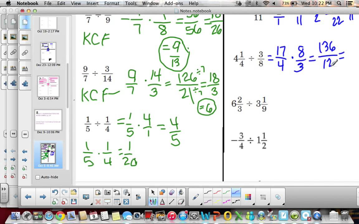6th Grade Lesson 5 7 Dividing Fractions And Mixed Numbers Youtube