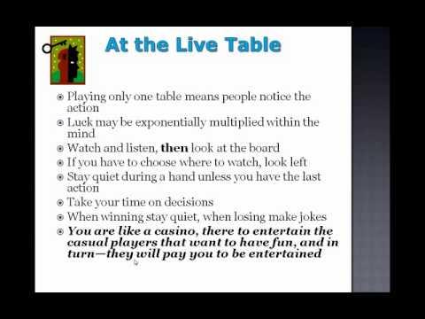 Poker Mindset training video : Train your brain ! Mental management by Gamble321.com
