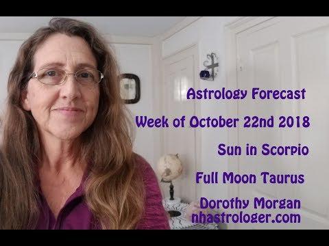 Sun in Scorpio – Full Moon Taurus Astrology Forecast Week of October 22nd