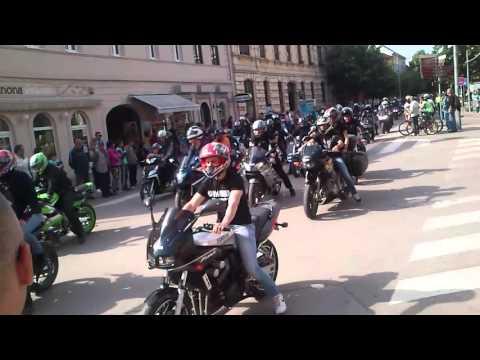 Moto defile Sremska Mitrovica 7.5.2016.