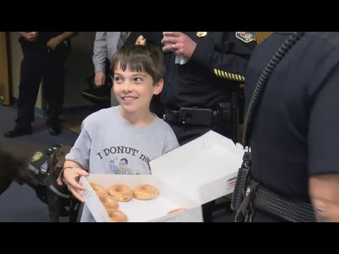 Boy, 10, Delivered Doughnuts to Police Officers in Las Vegas and Houston