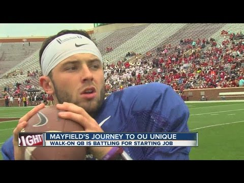 Baker Mayfield competing for Sooners