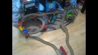 Playing wuth Thomas the Train set!