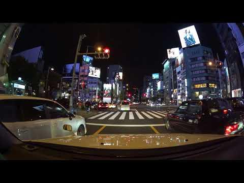 Tokyo night drive 4K 渋谷区 ドライブ 2017