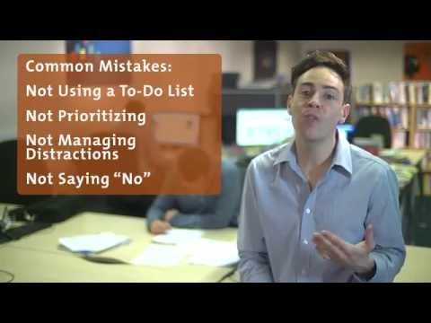 10 Common Time Management Mistakes - from Mind Tools com