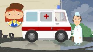 Доктор Машинкова - Скорая помощь(Доктор Машинкова долго бегала и играла под проливным дождем и простудилась. Робот Скрепыш срочно вызвал..., 2015-08-28T06:54:53.000Z)