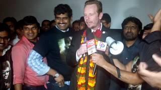 Mayor Protem speaking at Megastar Chiranjeevi Khaidi No 150 Release Hungama in Dallas, Texas