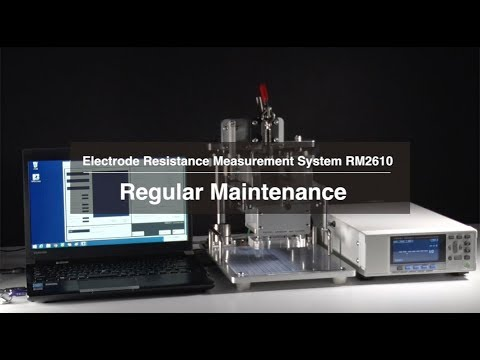 Hioki Electrode Resistance Measurement System RM2610 - How to Perform Maintenance