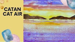 Catan Cat Air (Cara mudah) – Water Colour Painting