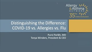 Distinguishing the Differences  COVID 19 vs Allergies vs Flu