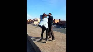 모로코 커플의 사랑스러운 커플 댄스, Dance with fiance in Morocco