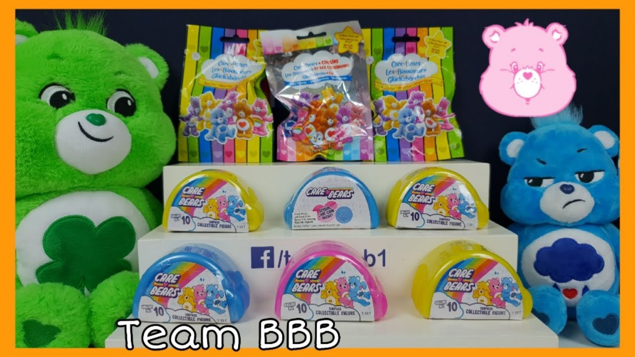 CARE BEARS UNBOXING SPECIAL! Surprise Collectible Figures and Care Coins CARE OUT LOUD Series 1
