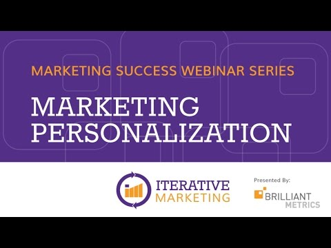 Marketing Personalization Webinar