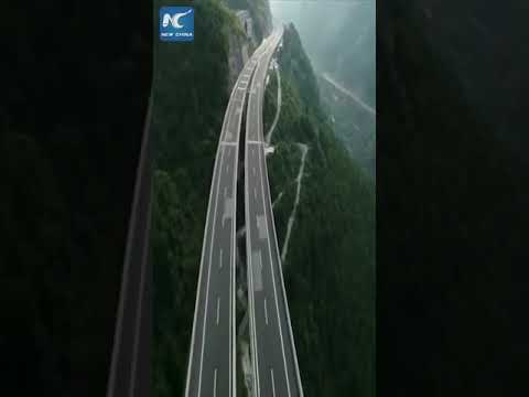 Amazing engineering: Stunning aerial view of Yaxi expressway in SW China