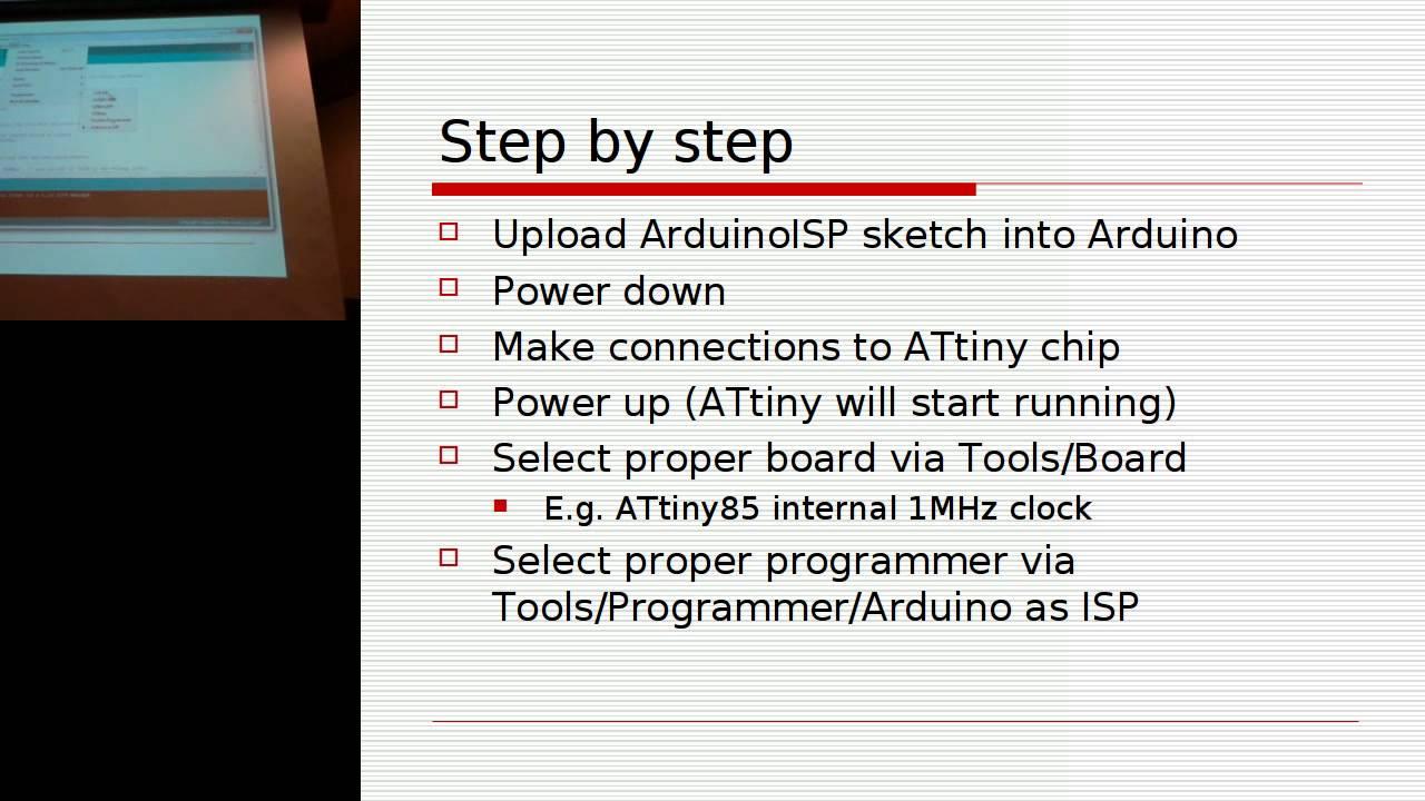 Programming Attiny Microcontrollers Youtube Six Pin From Atmel Avr Attiny10