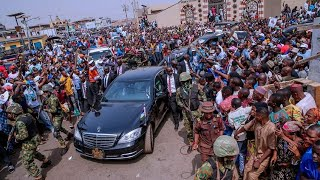 President Muhammadu Buhari During his Visit to Kwara State For APC Presidential Campaign Rally