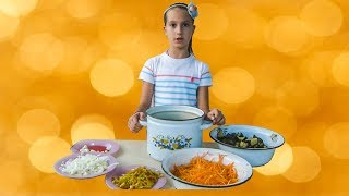 Салат из баклажан и моркови. Простой способ приготовления!