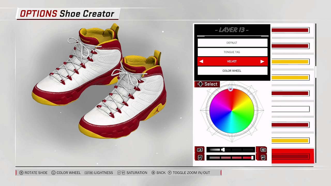 NBA 2K18 Shoe Creator - Air Jordan 9