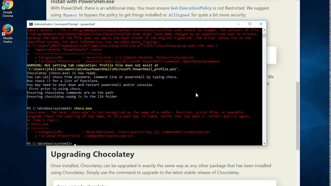 Install Chocolatey on Windows 10 with an Admin Powershell ... | 1280 x 720 jpeg 172kB
