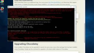 Install Chocolatey on Windows 10 with an Admin Powershell by moviestudioland