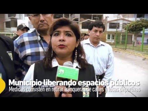 MUNICIPIO RETIRA TRANQUERAS DE CALLES Y LOSAS DEPORTIVAS