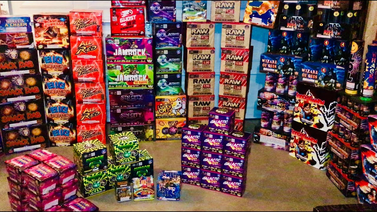 My Fireworks for the 4th of July - Over 2,000 Fireworks to Light!