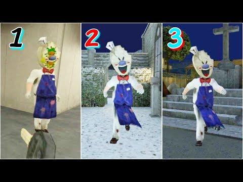 Ice Scream 1🍦2🍨3 Full Gameplay