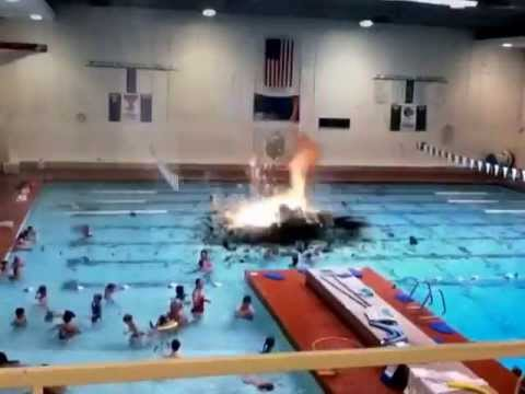 Lightning Strike At Indoor Pool Youtube